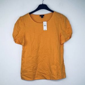 Ann Taylor XS Blouse Short Sleeve Solid